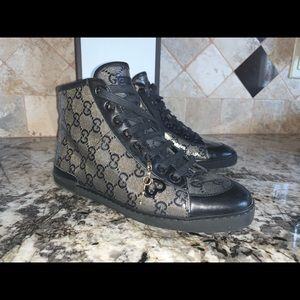 Gucci Shoes | Leather Sneakers Size 35
